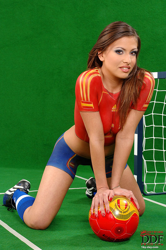 Body paint soccer game